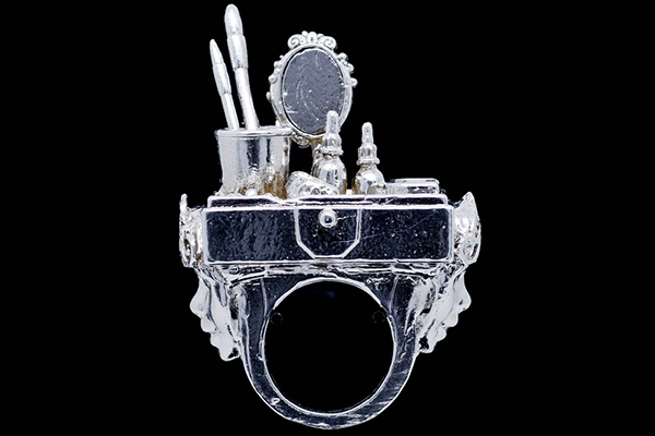 Careering: Cast .925 Sterling Silver; comes with Sculpturing, Hand Blown Glass Cloche Dome, Black Engraved Base with Armature, Travel Pouch, and Signed, Numbered, Dated, Fingerprinted Documentation.