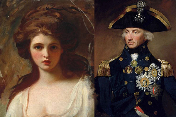 Lady Hamilton as Circe by George Romney / Vice Admiral Horatio Lord Nelson by Lemuel Francis Abbott