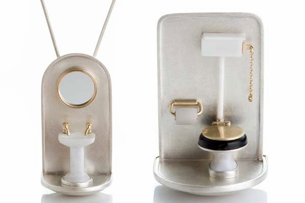 Sink Pendant Commode Brooch