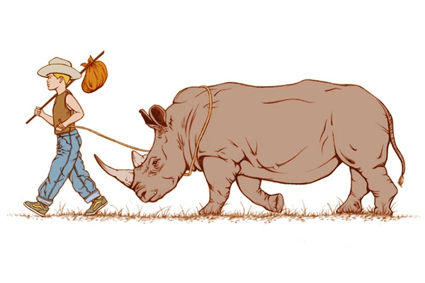 Boy with Rhino - Cait Maloney