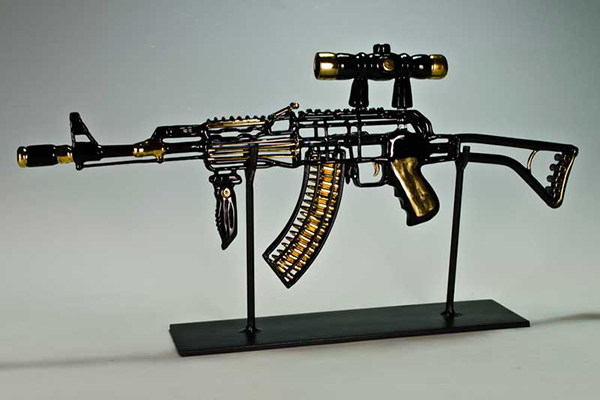 Black and Gold Tactical AK-47