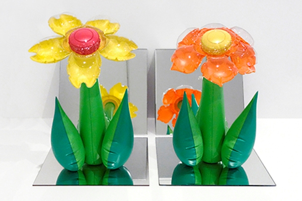 Inflatable Flowers-Tall Yellow, Tall Orange