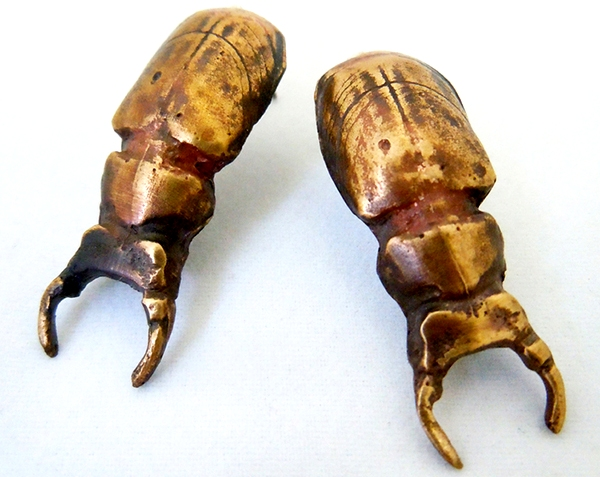 Scavenger Beetle Earrings